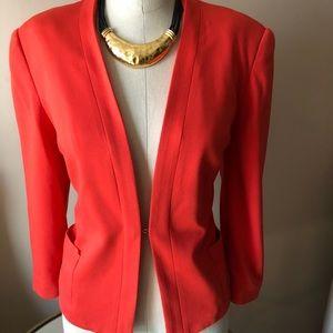 Orange 3/4 sleeve blazer